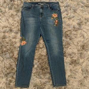 Floral Embroidered Old Navy Jeans